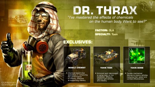 Dr. Thrax from 'Command and Conquer: Generals' video game